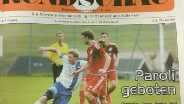 Schiedsrichterfreundliche Telfer Rundschau